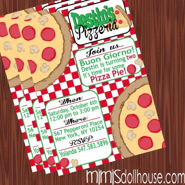 pizzeria invite display
