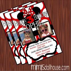 red minnie invite display pic