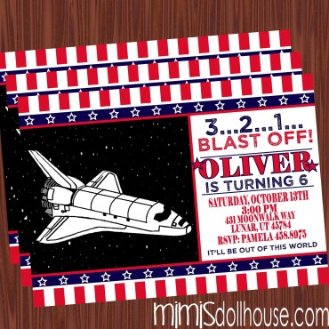 space shuttle invite display
