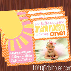 sunshine invite display-orange