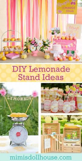 Looking for DIY Lemonade Stand Ideas? Throwing a Lemonade themed party? These Lemonade Stands are sure to inspire your next party. Birthday party ideas, first birthday ideas, spring party ideas and more!!! #lemonadestand #birthdayparty