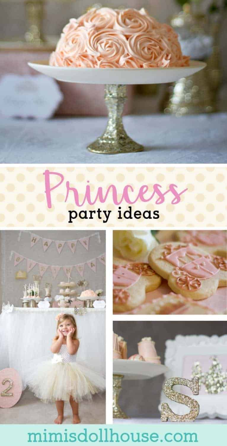 What's better for a little girl's birthday party than a princess party?  Looking for ideas for DIY princess decorations, princess party food and princess party ideas.  Check out this beautiful princess birthday party.