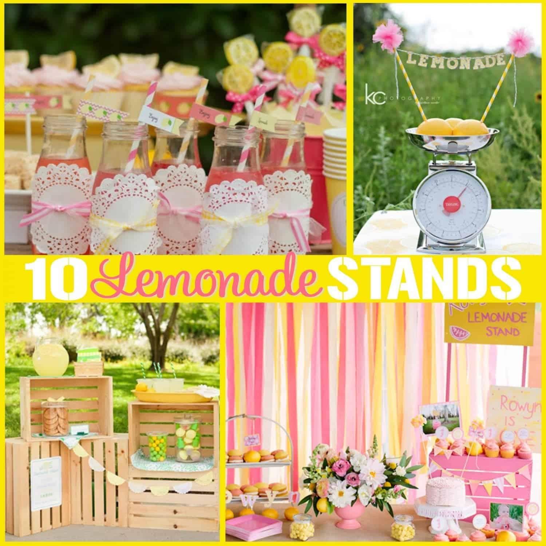 Lemonade Stand: 10 DIY Lemonade Stand Ideas