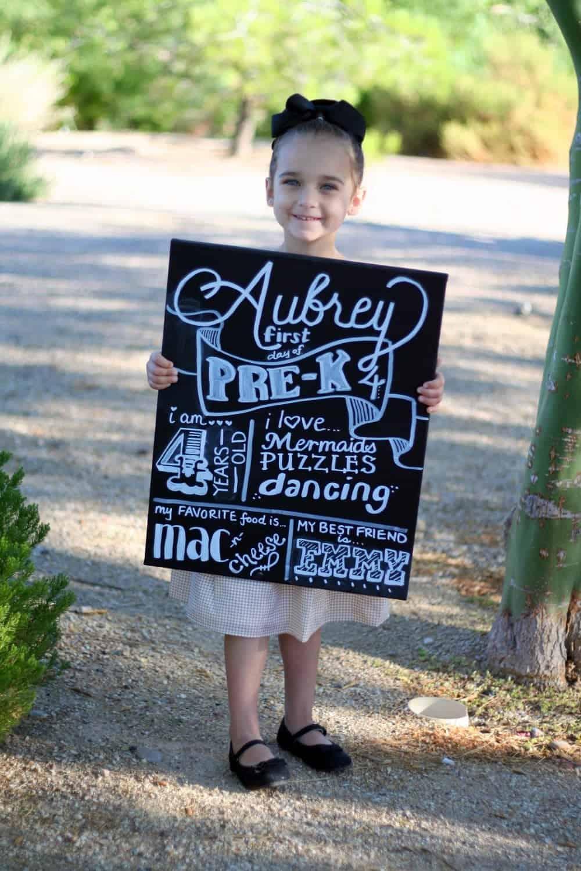 Back to School: Aubrey's Pre-K Back to School Photos