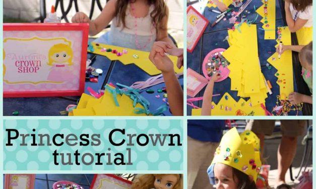 Princess Party: Princess Crown Tutorial