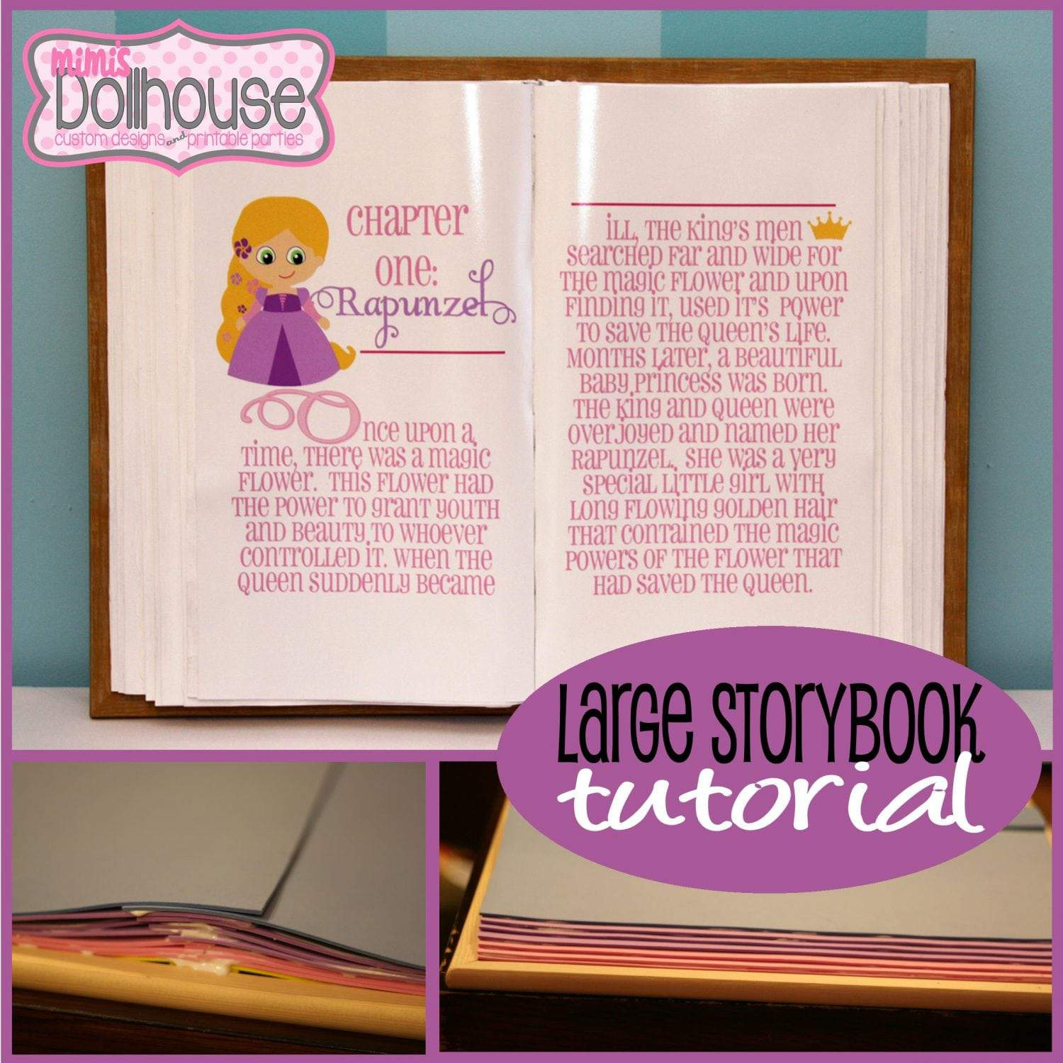 Princess party diy giant storybook tutorial mimi 39 s for Build storybook