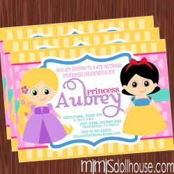 princess initation display