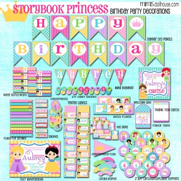 storybook princess display file