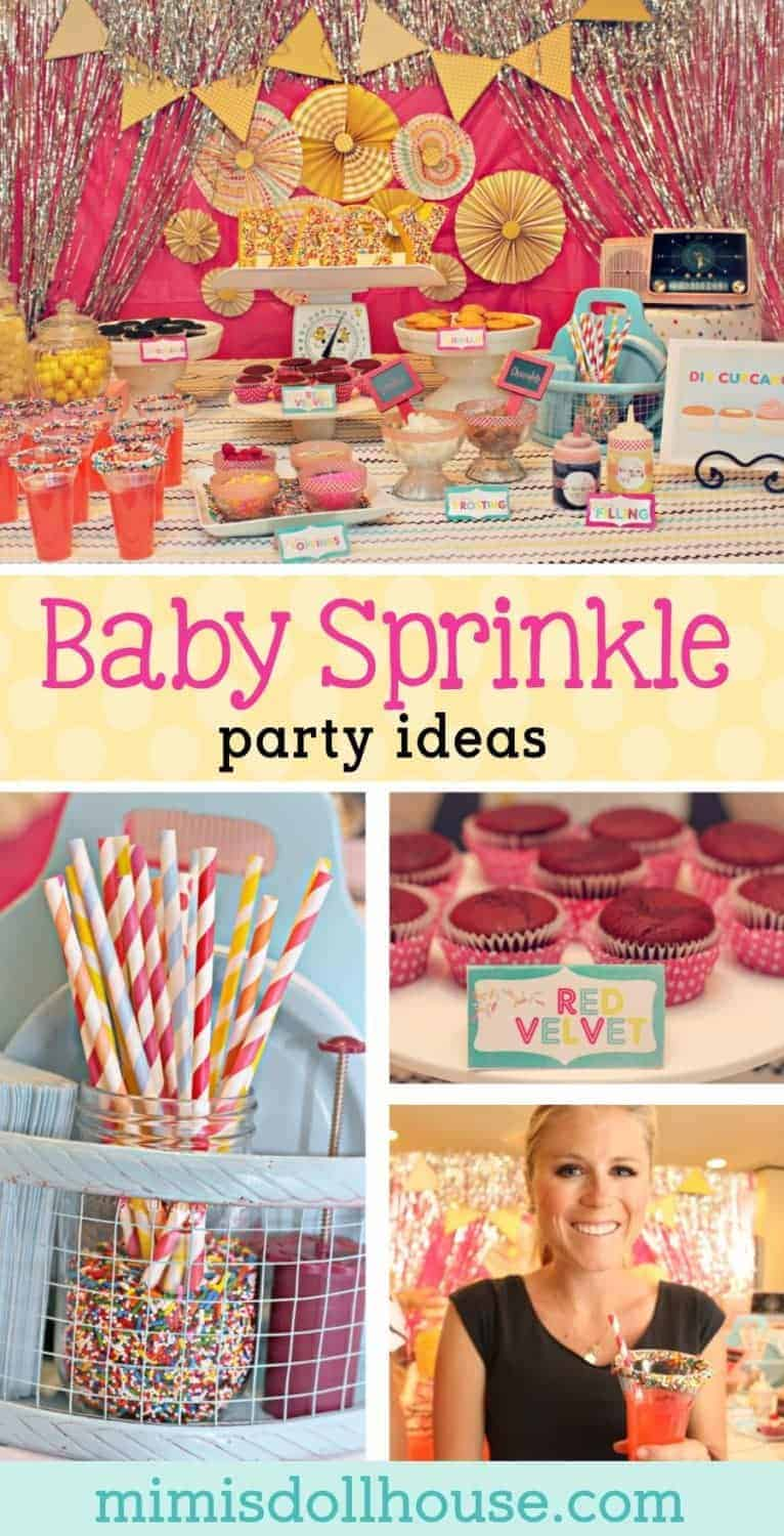 Celebrating a baby?  Want to sprinkle a new mom (or celebrate a second baby)?  This adorable bright colored baby sprinkle has a DIY cupcake bar nd fun ideas for a baby shower.  This is perfect for a baby girl shower.