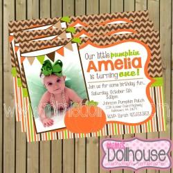 invitation display pumpkin