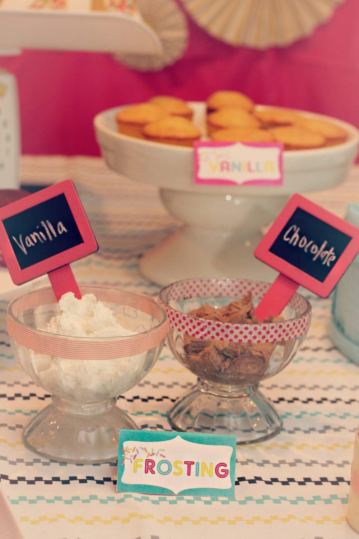 Baby Shower DIY Cupcake Bar and Baby Sprinkle