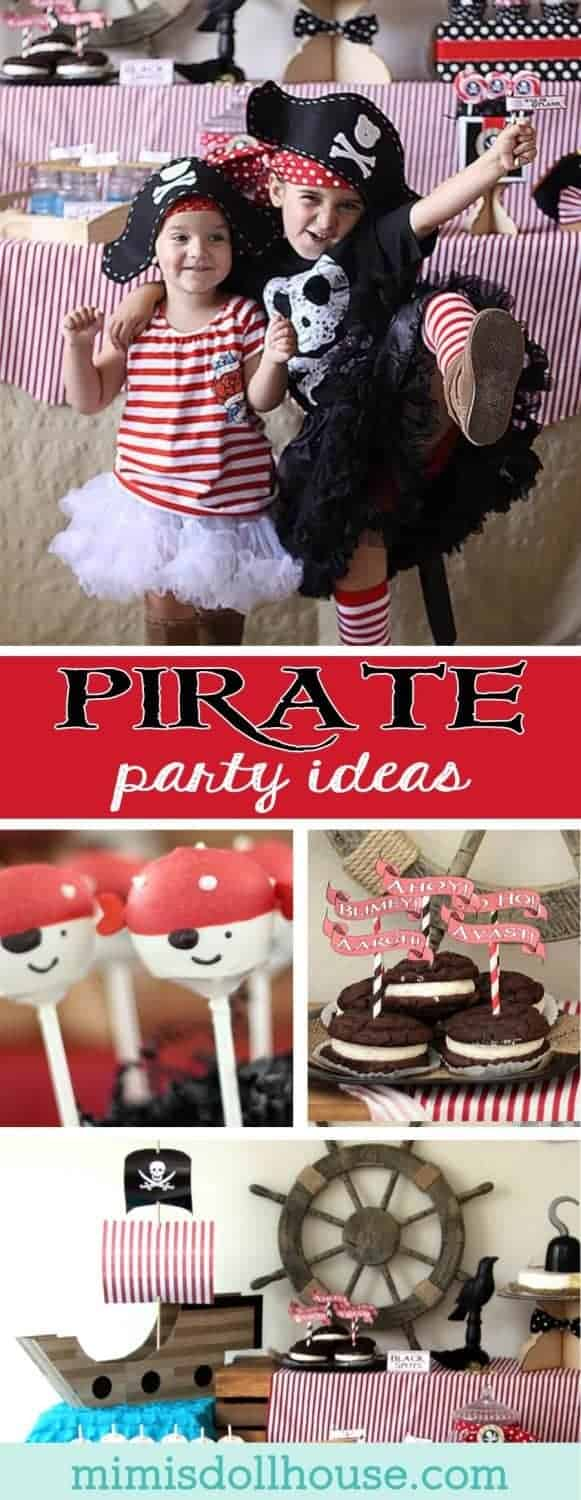 Pirate Party: Arghh you ready for a Buccaneer Bash?  Today, I'm sharing this super fun Pirate Party.  Check out all our pirate posts if you are looking for more Pirate Party ideas and inspiration!!