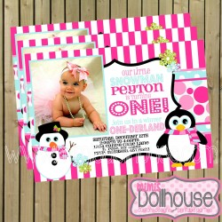 onederland invite display pink