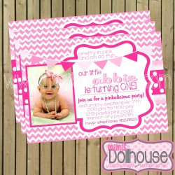 pretty in pink invitation