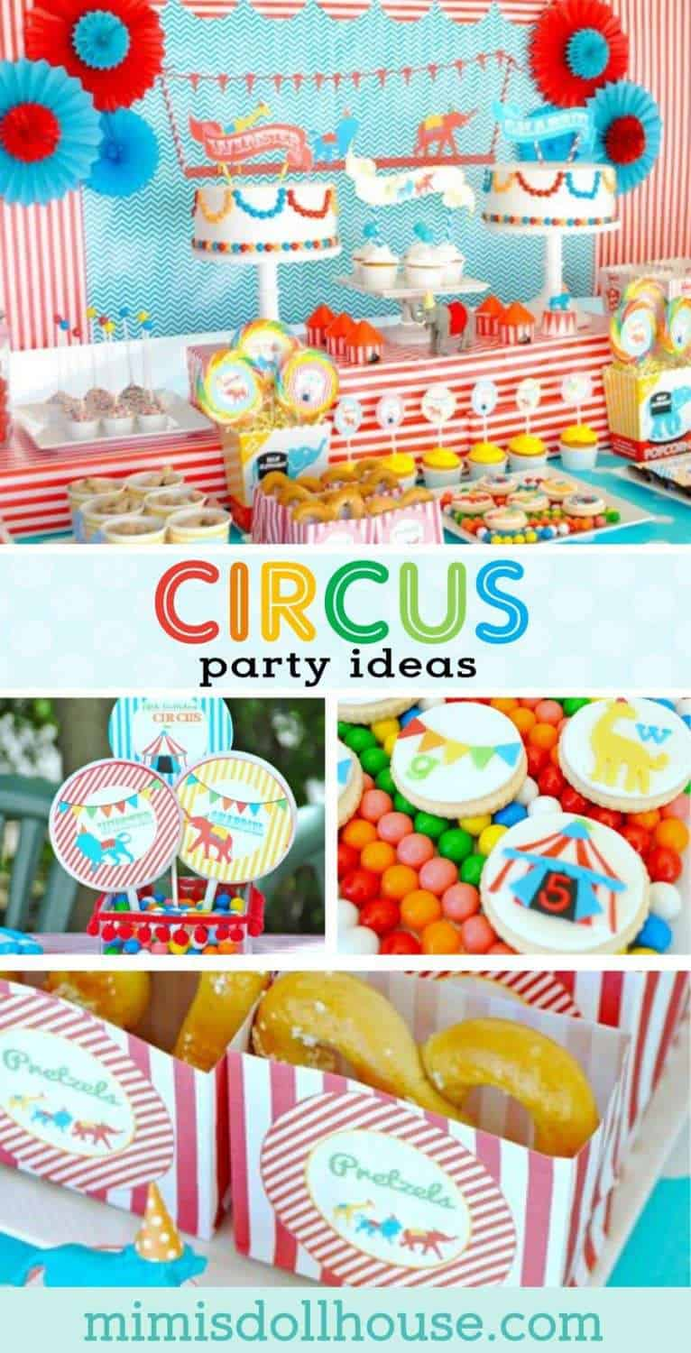 Circus Party: Come one, come all to the Birthday Circus. Step right up for a Birthday Circus Party! Be sure to check out all our Circus Party Ideas!!