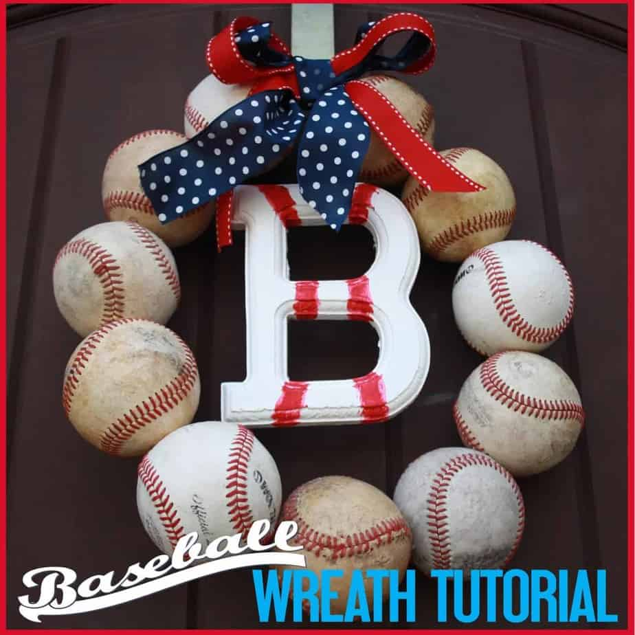 baseball party baseball wreath tutorial mimi u0027s dollhouse