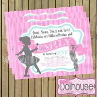 invitation ballerina girl