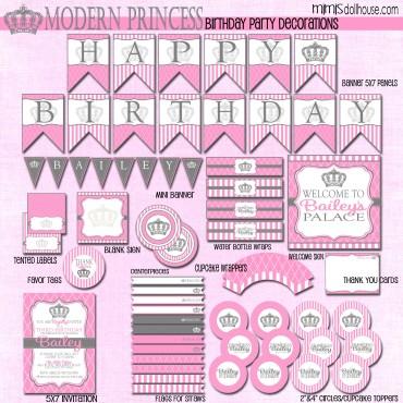 modern princess display file-pink
