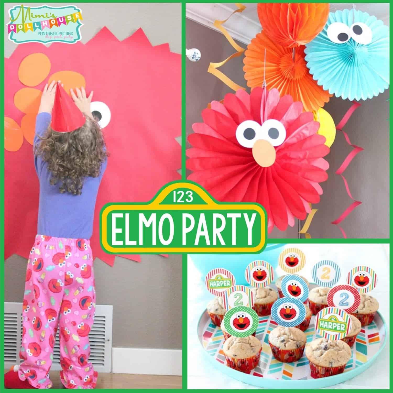 Sesame Street Party: Harper's Pretty Elmo Party