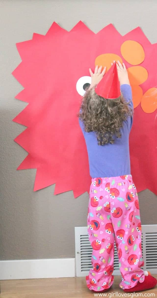 how to make pin the nose on elmo