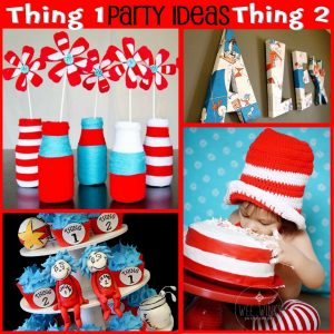 Dr. Seuss Party: Thing 1 and Thing 2, Ideas for you!-Mimi's Dollhouse