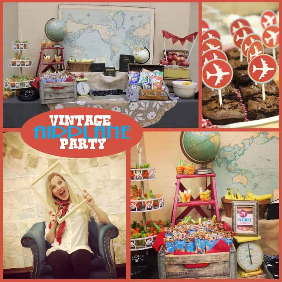 Vintage Airplane Birthday Party Airplane Baby Shower: Vintage Airplane Party Printable Collection
