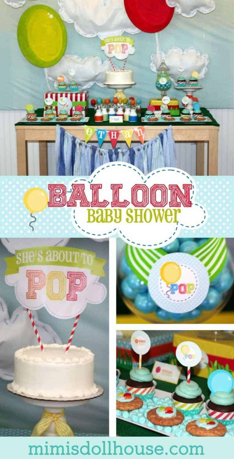 Balloon Baby Shower: She's About to POP! This fun Balloon Baby Showerwas styled for a sweet mama who is about to pop! Be sure to check out all our Baby Shower inspiration.