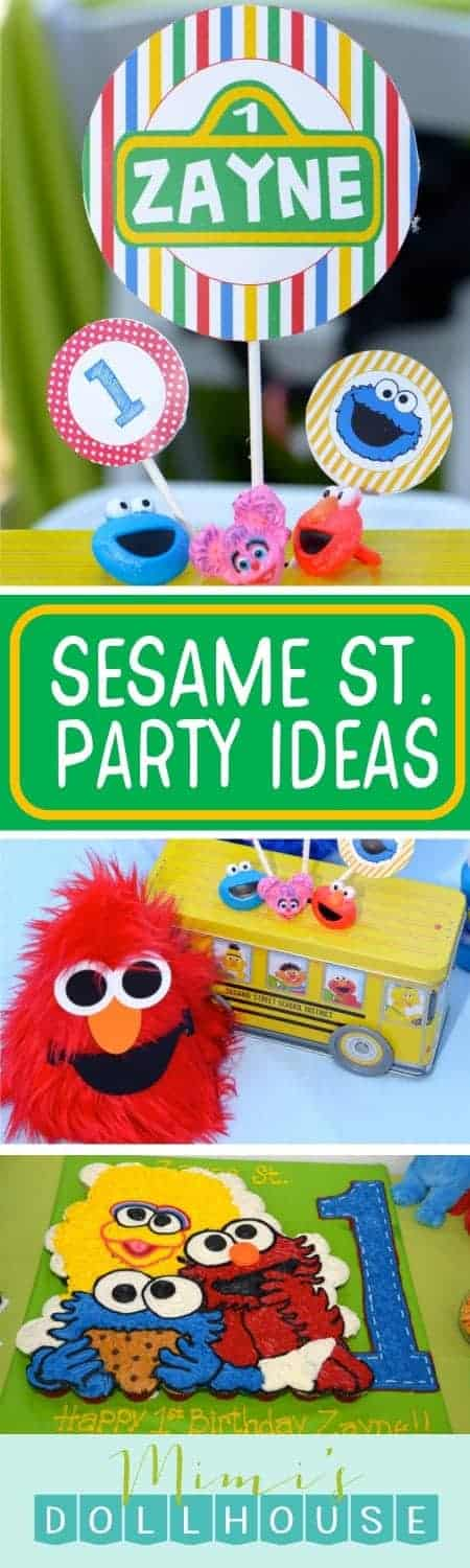 Sesame Street Party: Zayne's World. Can you tell me how to get to Zayne's First Sesame Street Party? Check out our other posts for more Sesame Street Party Ideas and Inspiration.