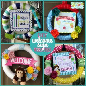 DIY Decor: Welcome Sign Wreaths-Mimi's Dollhouse