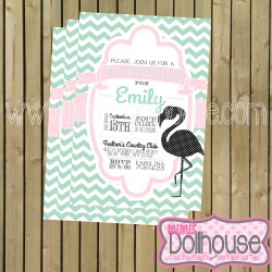 invitation display flamingo