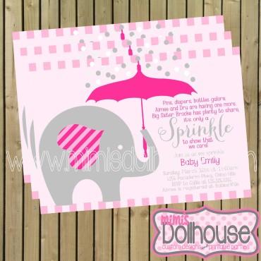 invitation elephant sprinkle
