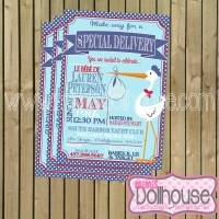 invitation french stork