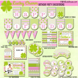 lucky charm display file pink