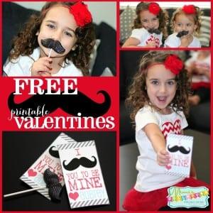 Valentine's Day: Mustache Printables-Mimi's Dollhouse
