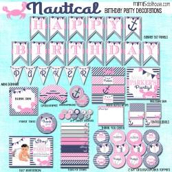 nautical display file pink