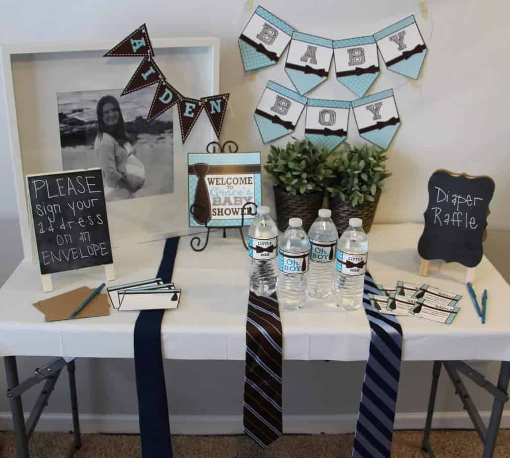 Bowtie Baby Shower Printable Collection