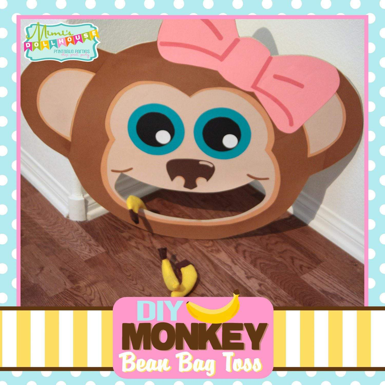 Monkey Party: Bean Bag Toss Tutorial