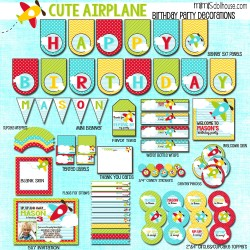 Cute airplane display file