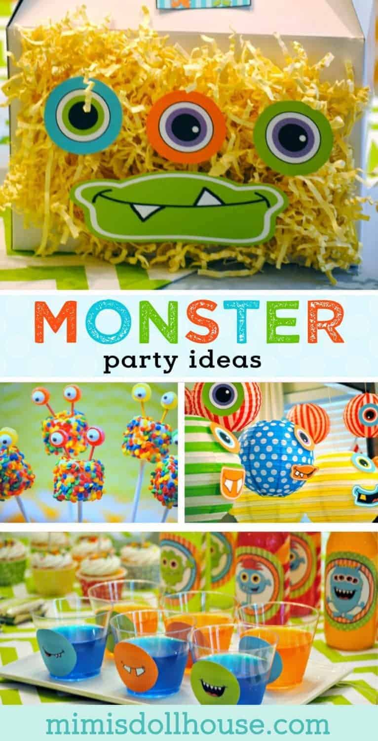 Celebrating a birthday party?  Check out these awesome monster party ideas for your birthday planning.  Monster party treats and monster decorations.