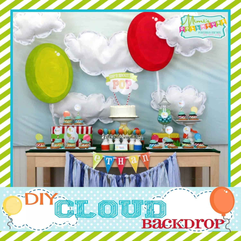 Make Balloon Backdrops Cloud And Balloon Backdrop