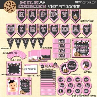 milk cookies display file pink