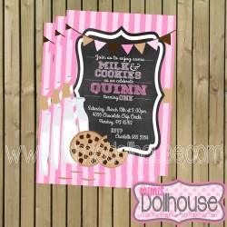 pink invitation display