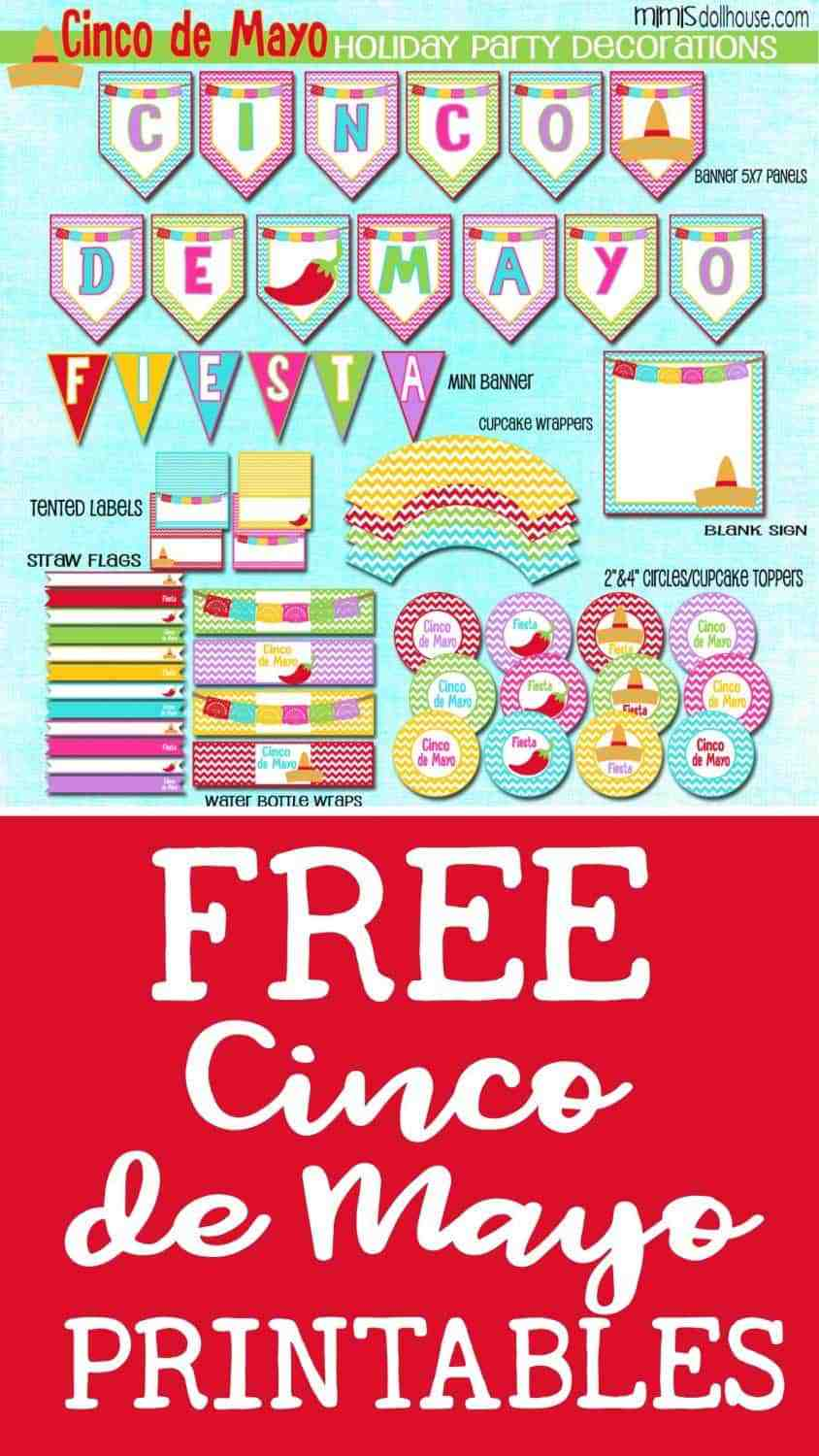 Cinco de Mayo: FREE Cinco de Mayo Printables.  Throwing a party for Cinco de Mayo?  How about some FREE Cinco de Mayo Printables to get you started. Be sure to checkout all our Cinco de Mayo Ideas and Holiday Inspiration.