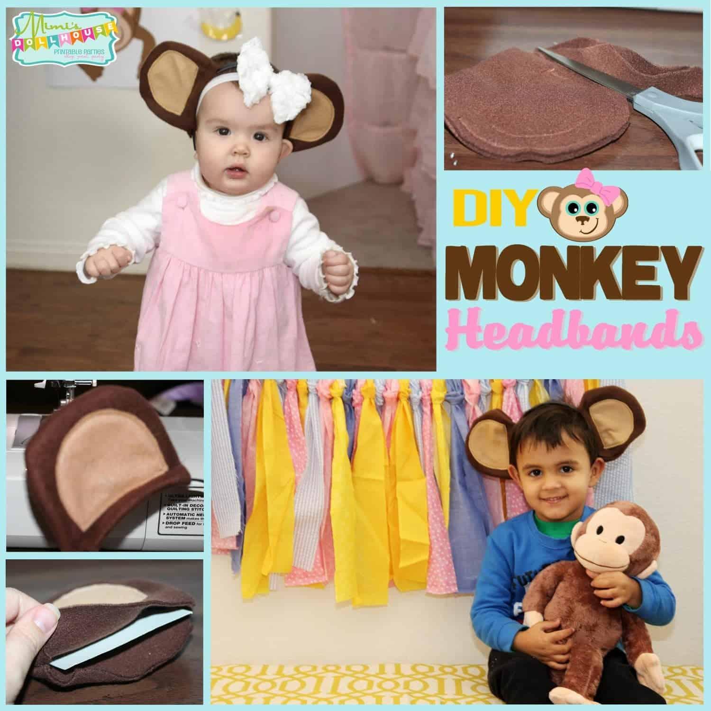 Monkey Party: DIY Monkey Headband Tutorial