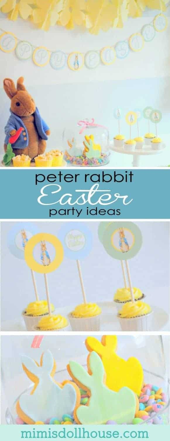 Easter Party: Here comes Peter Rabbit! I'm sharing a super sweet Easter party today themed around an Easter Childhood Favorite...Peter Rabbit. This party is full of cute Peter Rabbit themed Easter Party decorations.