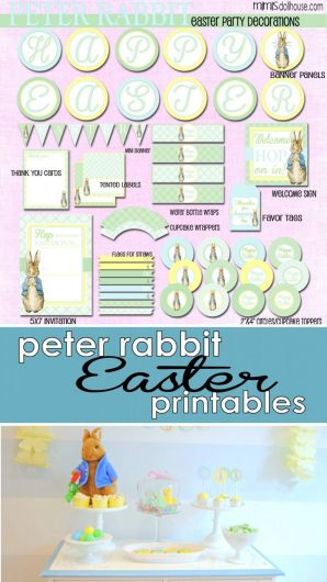 Peter Rabbit Easter Party Printables