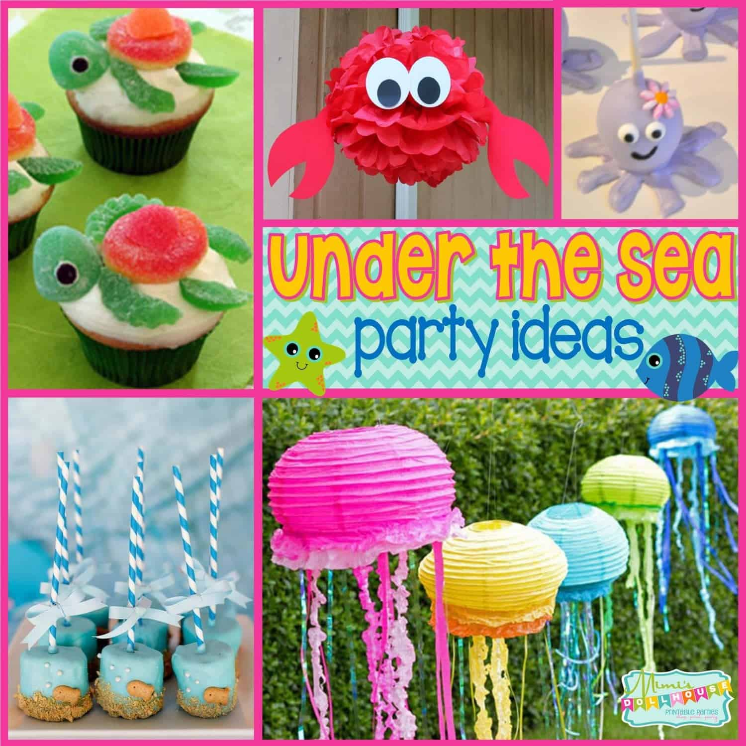 Under the sea party fishy fun with ocean party ideas ocean party lanterns and under the sea - Th party theme ideas ...