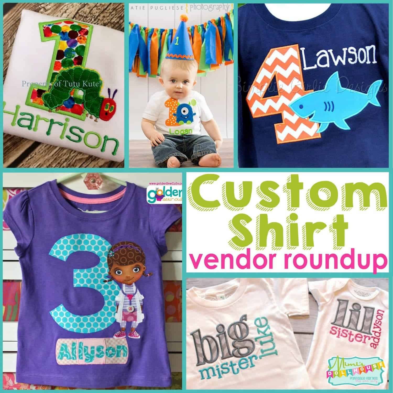 Vendor Roundup: Custom Shirts for your Party
