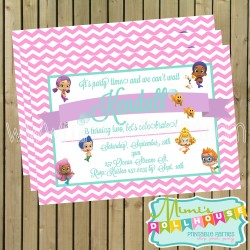 bubble guppies invitation display