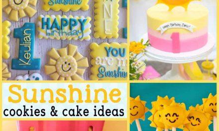 Sunshine Party: Sunshine Cookies and Sunshine Cakes